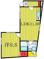 JR山手線 田端駅 徒歩15分の賃貸マンション 1階1LDKの間取り