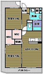 メゾン錦II[2階]の間取り