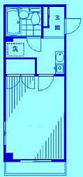 クレセントユニ二子新地[2階]の間取り