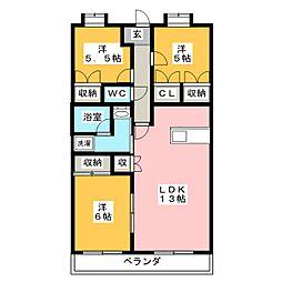 シャンデリー21[2階]の間取り