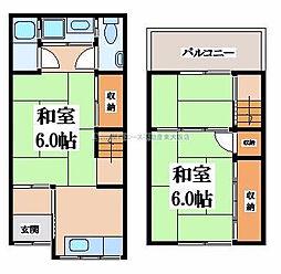 [テラスハウス] 大阪府東大阪市御幸町 の賃貸【/】の間取り