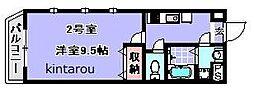 スパシーバ検見川[202号室]の間取り