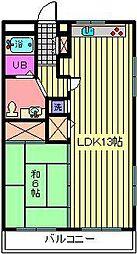 サン・アップマンション[203号室]の間取り