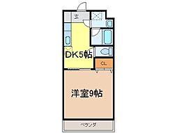 静岡県富士市一色の賃貸マンションの間取り