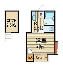 シャトレーII[2階]の間取り