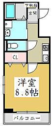 埼玉県川口市飯原町の賃貸アパートの間取り