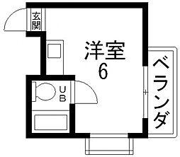小若江ハイツ[306号室号室]の間取り