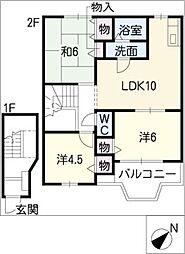 メイプルハウスII[2階]の間取り