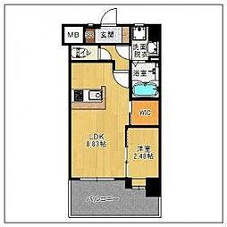 ザ シダーハウス バイ サヴォイ 2階1LDKの間取り