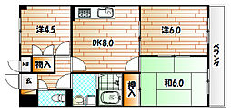 第11岡部ビル[5階]の間取り