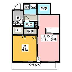 セントポーリア G棟[3階]の間取り