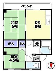 コーポ華[2階]の間取り