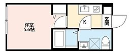 パークFLATS横浜白楽[2階]の間取り
