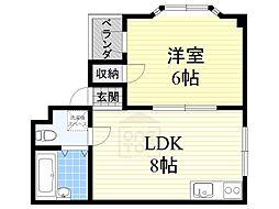 ハイツササジマ[4階]の間取り