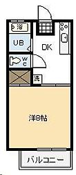 コーポ石野[201号室]の間取り