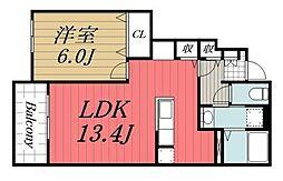 JR外房線 大網駅 バス10分 みどりが丘下車 徒歩2分の賃貸アパート 1階1LDKの間取り