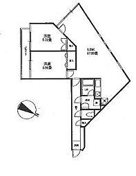 エスタシオン調布[3階]の間取り