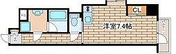 JR東海道・山陽本線 摩耶駅 徒歩8分の賃貸マンション 5階ワンルームの間取り