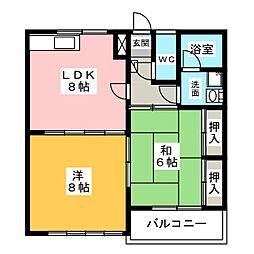 セゾンマツシマI[1階]の間取り