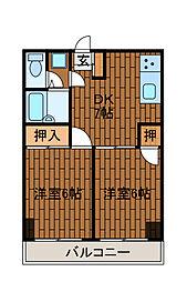 エトワール柿生[4階]の間取り