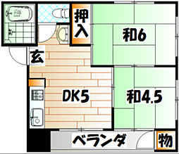 寿アパート[202号室]の間取り