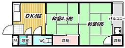 洛東ハイツ[B17号室]の間取り