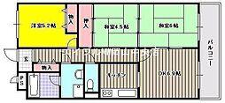 スカール富田公園[6階]の間取り