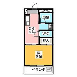 第2コーポ梅村[2階]の間取り