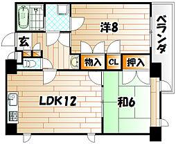 ルネックスⅢ[5階]の間取り