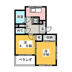 ベルズコート浜松[6階]の間取り