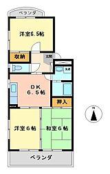 グリンハイツ諏訪[2階]の間取り