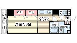 サムティ神戸駅南通[507号室]の間取り