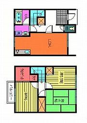 [テラスハウス] 大阪府阪南市和泉鳥取 の賃貸【/】の間取り
