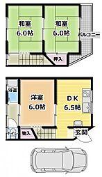[一戸建] 大阪府寝屋川市高柳6丁目 の賃貸【/】の間取り