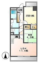 ロジェ新栄南[12階]の間取り