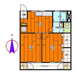 コーポ宮川[3-C号室]の間取り