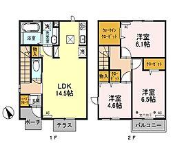 [テラスハウス] 埼玉県新座市野火止8丁目 の賃貸【/】の間取り