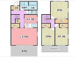 [タウンハウス] 兵庫県姫路市御立西1丁目 の賃貸【/】の間取り