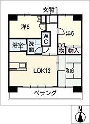 S−FORT上小田井[3階]の間取り