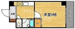 下京区/ベルビュー芦刈山[203号室号室]の間取り