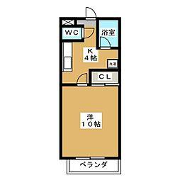 ケイズシティ豊成[1階]の間取り