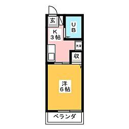 シティハイムシャトレ[2階]の間取り