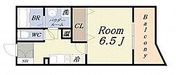 シャトー弁天参番館[10階]の間取り