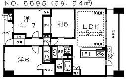 ローレルコート阿倍野三明町[308号室号室]の間取り