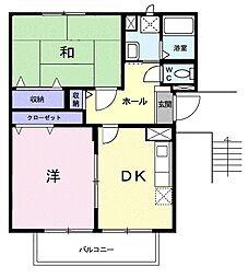 エルディム柏M[2階]の間取り