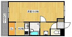 ジョイフルスワノII[1階]の間取り