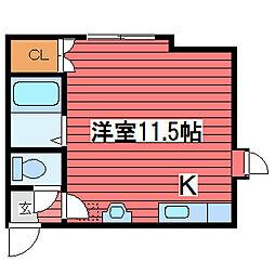 サンホームMS月寒東[2階]の間取り