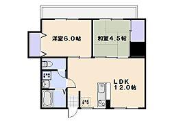 松屋マンション[2階]の間取り