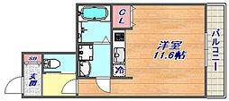 ボヌール恋野[4階]の間取り