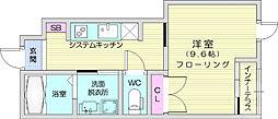 仙台市地下鉄東西線 八木山動物公園駅 8kmの賃貸アパート 1階1Kの間取り